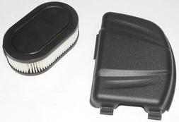 Air filter and filter cover replaces Briggs & Stratton numbe