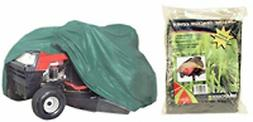 """DELUXE RIDING LAWN MOWER COVER 78""""X30""""X48"""" GREEN TEAR RESIST"""