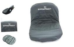 POWERWORKS Waterproof Deluxe Riding Lawn Mower Seat Cover, M